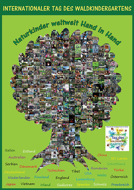 Plakat Internationaler Tag der Waldkindergärten
