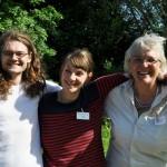 unser Team: Wolf, Juli und Maren